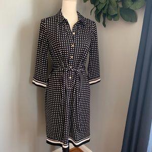 Talbots petite Polkadotted dress size Medium